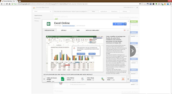 Excel Online Chrome Web Store