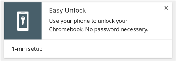 Easy Unlock smartphone chromebook authentification