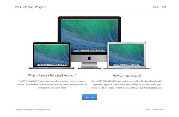 apple beta programme test osx