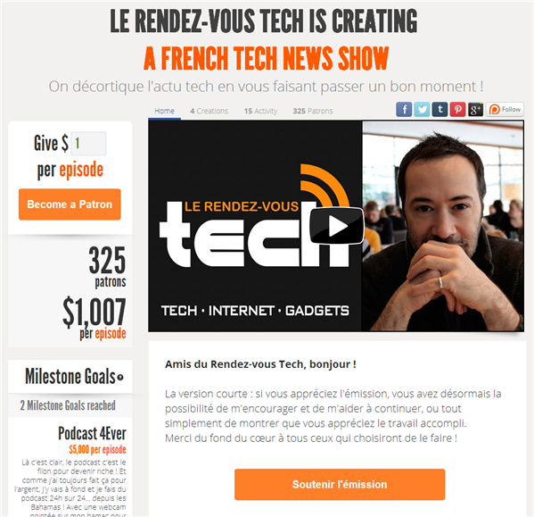 Patreon Le RDV Tech
