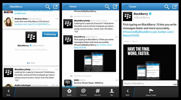 Twitter BlackBerry 10.3