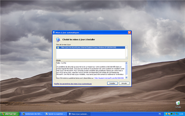 windows xp faille internet exploirer