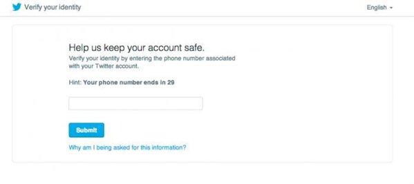 Twitter sécurité