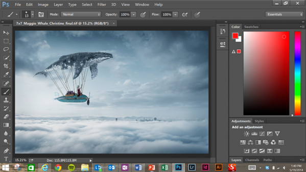 surface pro 3 photoshop cc