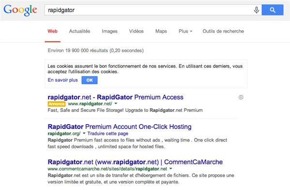google rapidgator