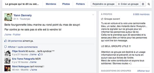 groupe radars facebook