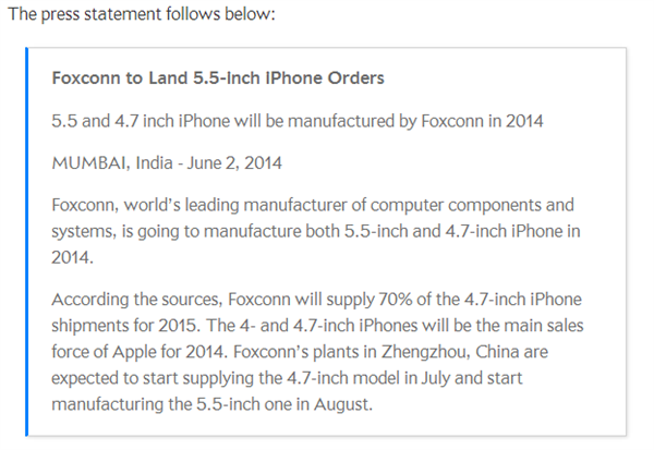 iPhone  Foxconn