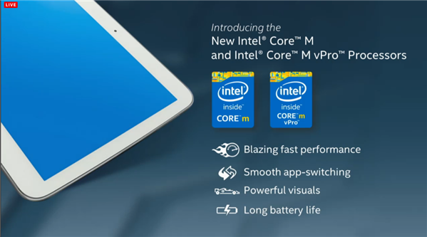 Intel Core M Computex 2014 Slide