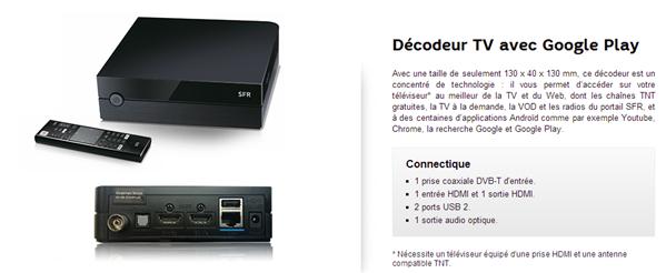 SFR décodeur TV Android