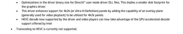 Intel HEVC Drivers