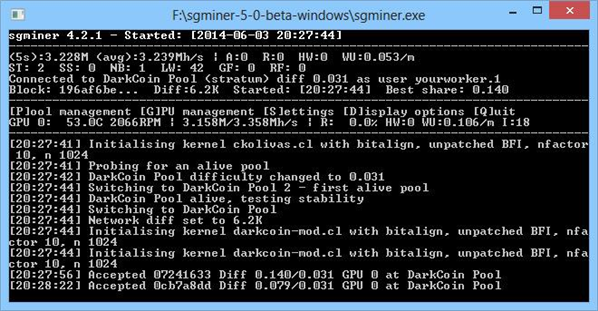 Sgminer 5.0