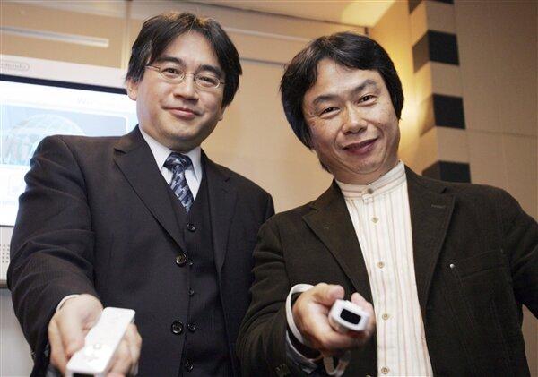 Satoru Iwata Shigeru Miyamoto Nintendo