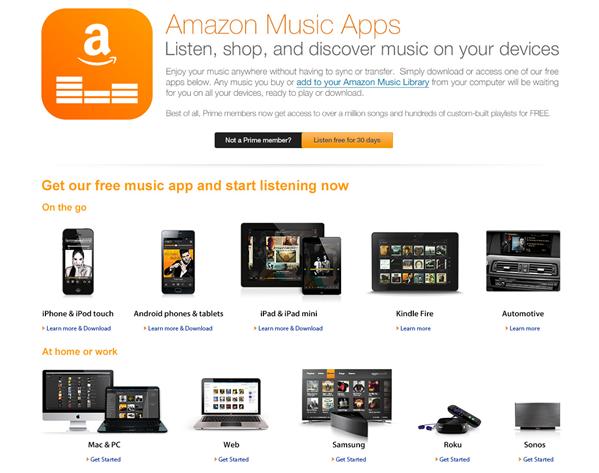 Amazon Prime Music est disponible, vous pouvez le tester