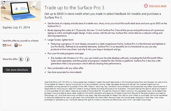surface pro 3 macbook air