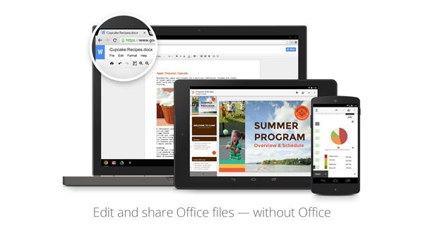 Google Drive Office Natif