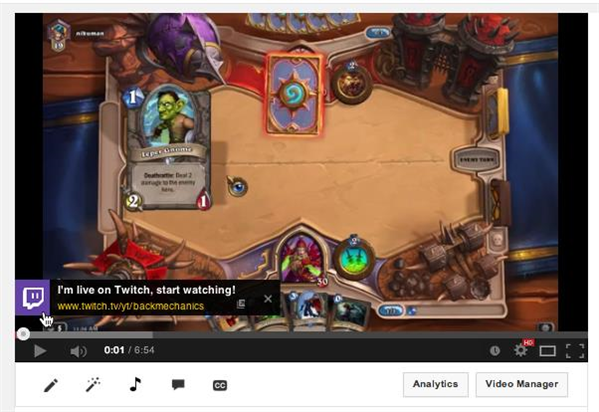 Twitch Live annotation