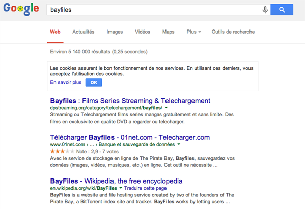 bayfiles google