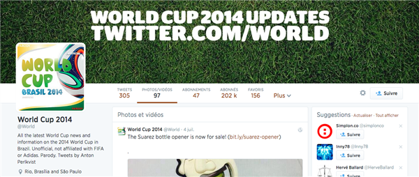 coupe monde twitter
