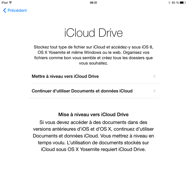 icloud drive ios8