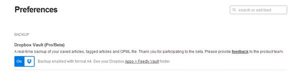 Feedly Dropbox