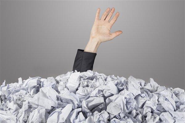 Papier perdu paperasse