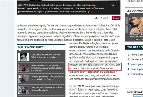 Le parisien terrorisme