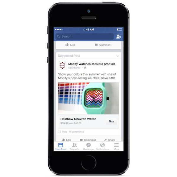 Facebook Bouton Achat
