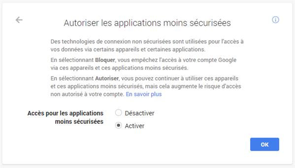 gmail oauth sécurité