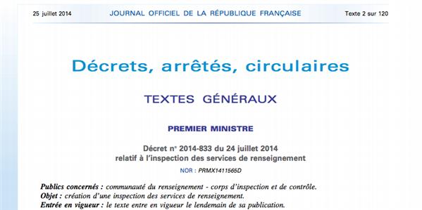 décret inspection renseignements