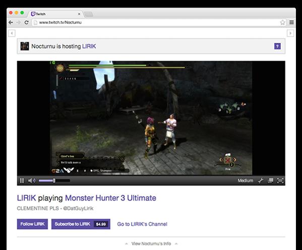 Twitch Host Mode