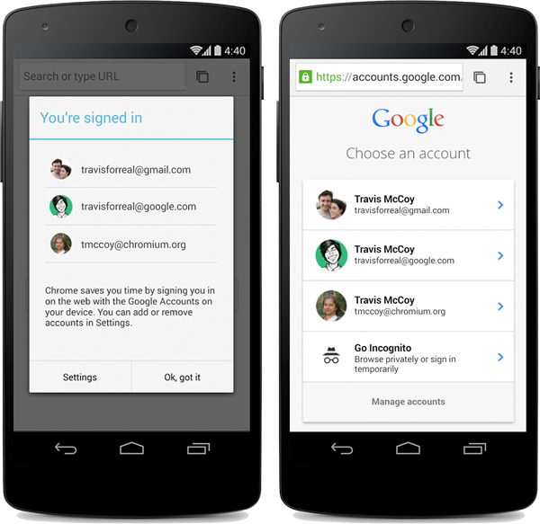 Chrome Beta Android Login