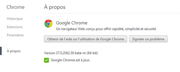 Google Chrome bêta