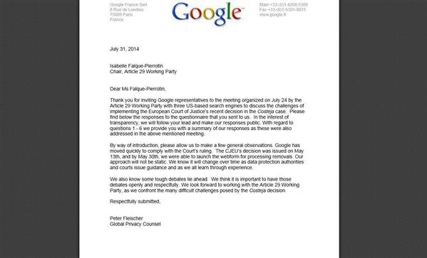 Google cnil droit à l'oubli