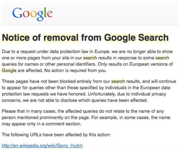 Wikipedia demande de retrait