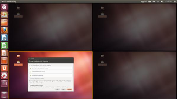 ubuntu bureaux virtuels