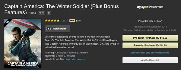 Amazon Captain America 2