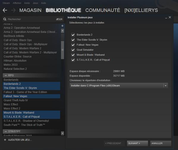Steam téléchargemetn simultané