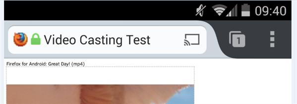 Chromecast Bouton Firefox 33 Bêta