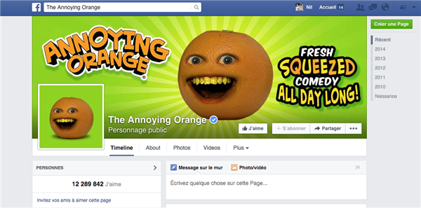 Facebook Annoying Orange