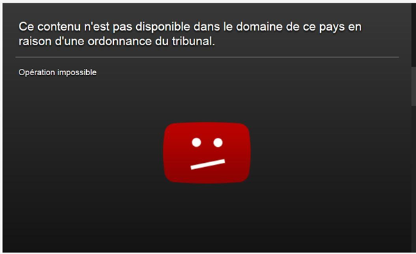 blocage youtube ordonnance