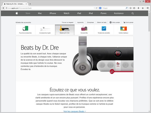 beats apple store
