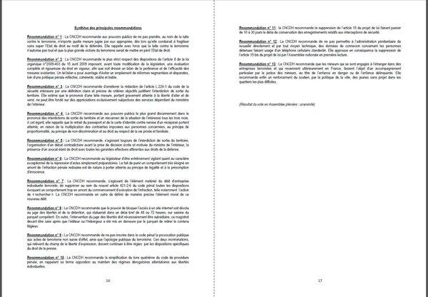 avis CNCDH projet de loi terrorisme