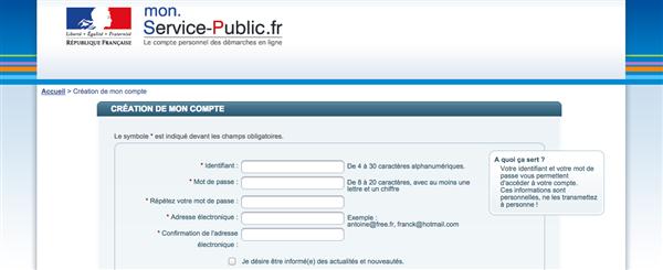 compte service public