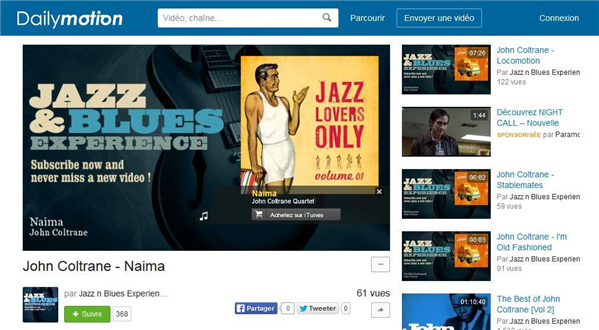 dailymotion jazz musique
