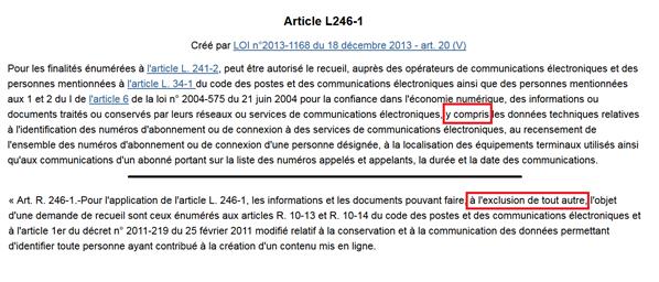 loi décret article 20 loi programmation militaire