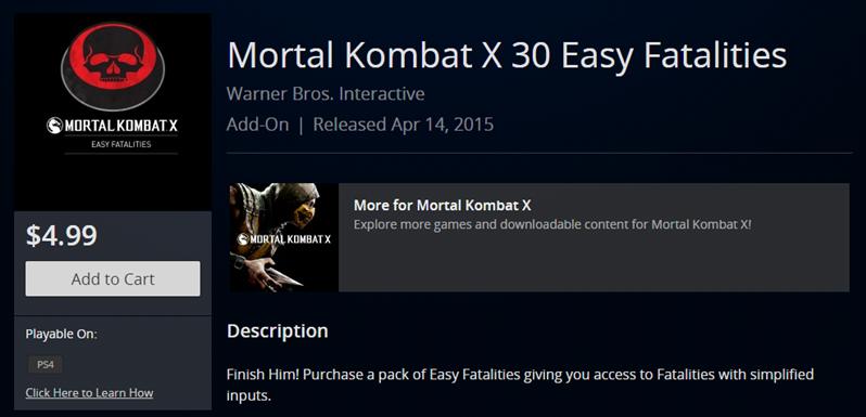 Easy Fatalities Mortal Kombat X