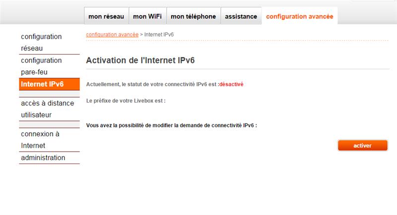 Orange IPv6