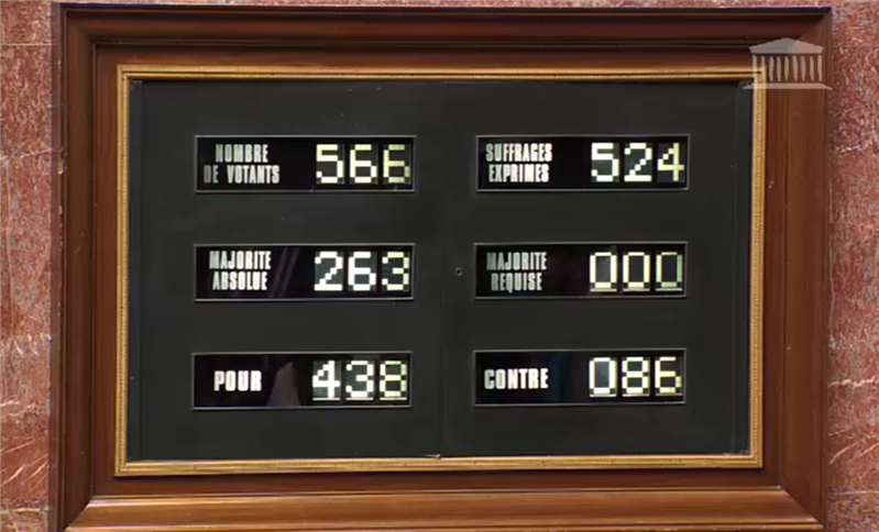 vote scrutin assemblée