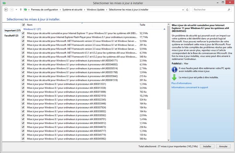 Windows Update mai 2015