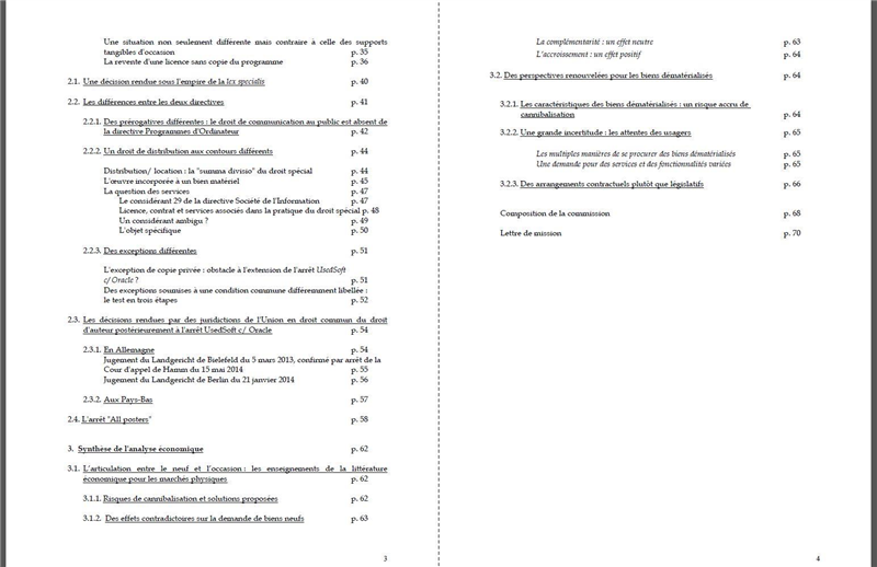 fichiers occasion rapport